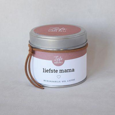Soja kaars blik liefste mama